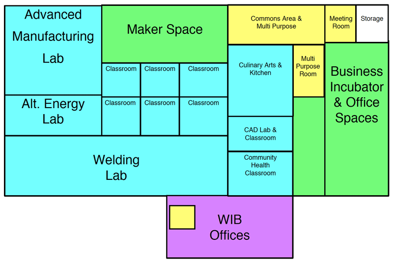 Floor plan of Technology Center located at 4th and Grand