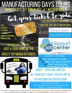 Flier for Manufacturing Days Tours