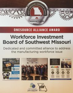Onesource Alliance Award: Workforce Investment Board of Southwest Missouri