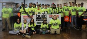 Group of students posing with build my future sign